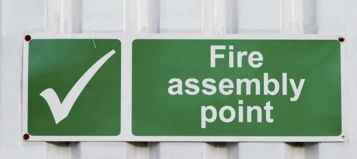 Where should a Fire Assembly Point be located? Image
